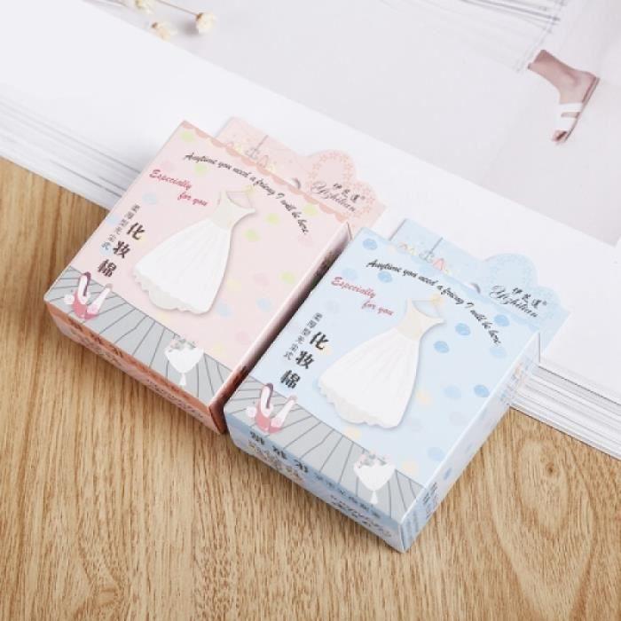 Coffret De Maquillage - 25 boîte de vendre des garnitures minces faciales molles jetables de coton de souffle jetables, emballage