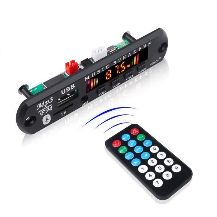 Couleur LCD Bluetooth voiture Kit 5V 12V sans fil récepteur Mp3 lecteur décodeur carte USB 3.5MM FM - Type Bluetooth with logo