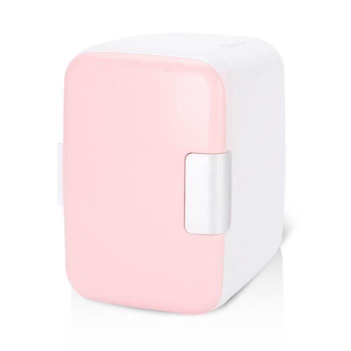 CEN Mini réfrigérateur 4 litres - 6 canettes électriques, Système thermoélectrique portable -- Rose