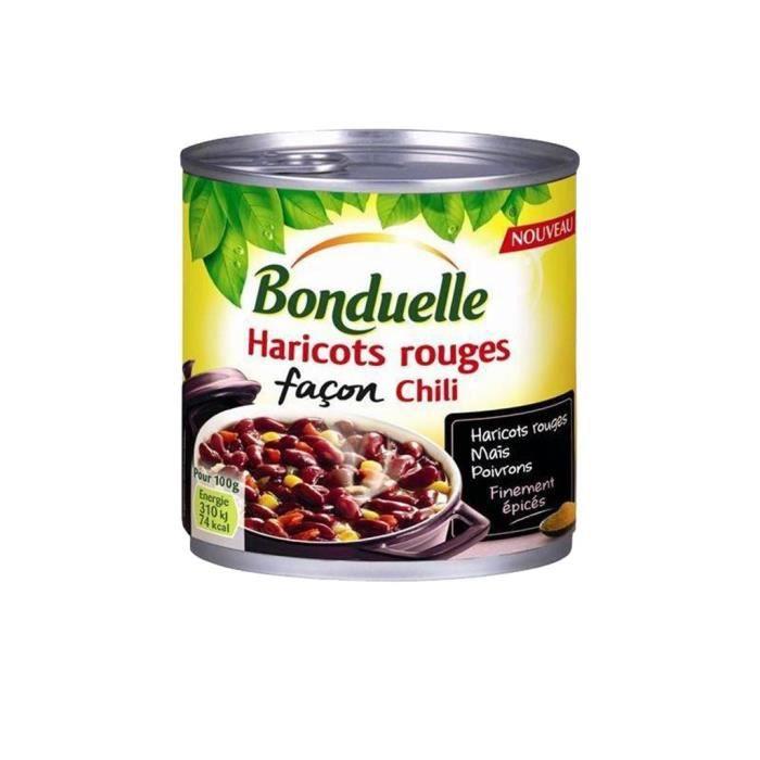 Bonduelle Haricots Rouge Cuisinés Façon Chili 400g (lot de 5)