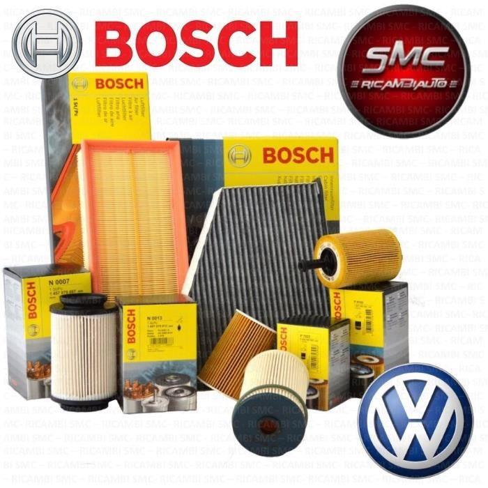 KIT DE REVISION 4 FILTRES BOSCH VW-5 L HUILE MOTEUR CASTROL EDGE 5W30 VW GOLF VI (5K1) 2.0 TDI 100 KW 136 CH