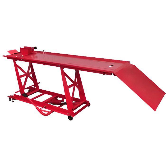 Xinaqstore® Pont élévateur pour motos Plate-forme élévatrice pour motos Bloc de montage 450 kg