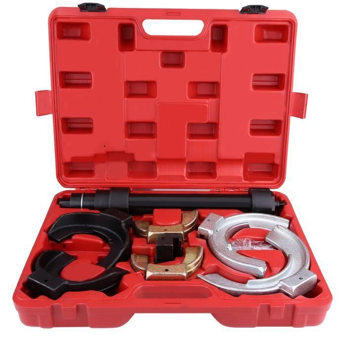 Compresseur de Ressort d'Amortisseurs Auto Moto avec Ressorts 80 mm à 190 mm + 1 Coffret Rouge-KOR