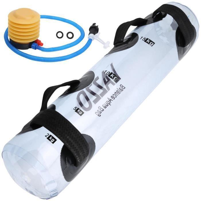 Drfeify Équipement de musculation Sac de Poids d'Eau 20kg Entraînement Muscle Entraîneur d'Équilibre en PVC Transparent pour