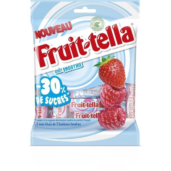 FRUITTELLA Bonbon 30% de sucres - 144g - Smoothie