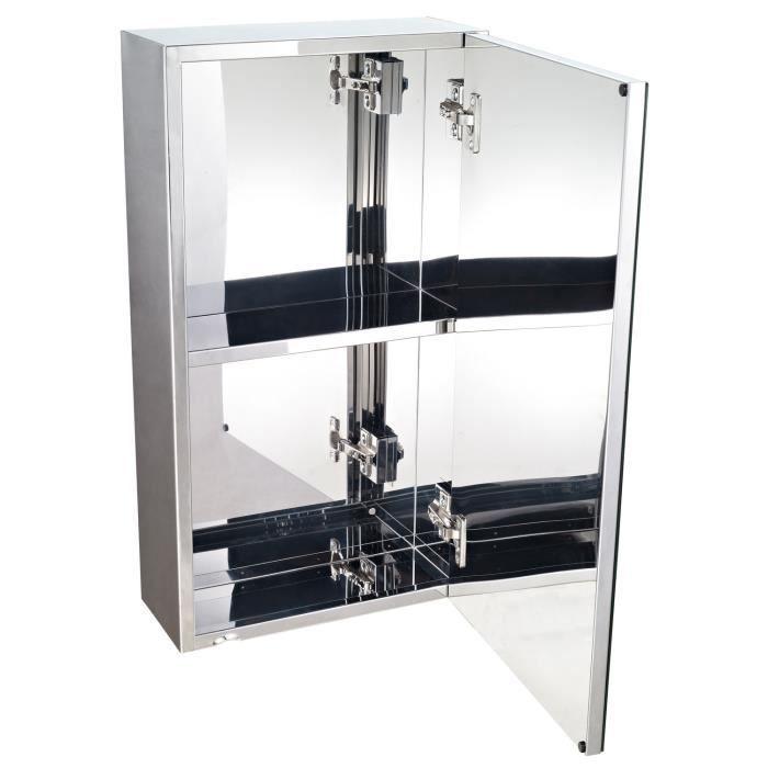 Armoire miroir rangement toilette salle de bain me
