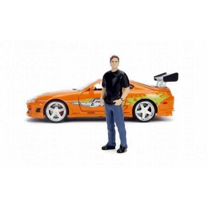 Voiture Toyota Supra 1995 Fast and Furious au 1/24 avec Figurine Brian