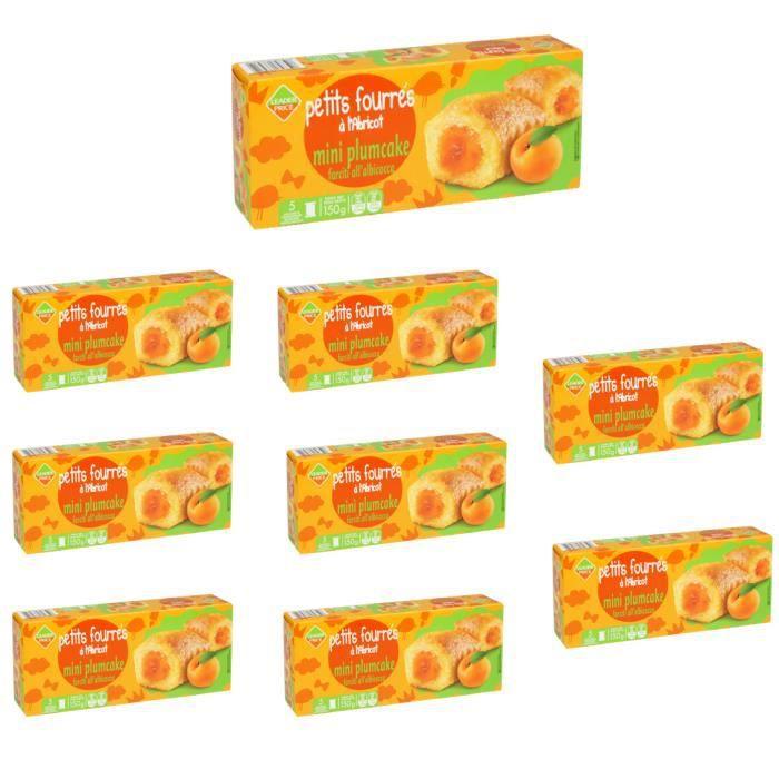 [Lot de 9] Biscuits petits fourrés abricot x5 sachets - 150g par paquet