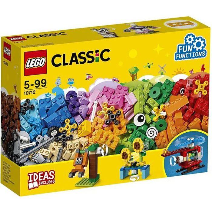 LEGO® Classic - Jeu de construction - 10712 - La boîte de briques et d'engrenages LEGO
