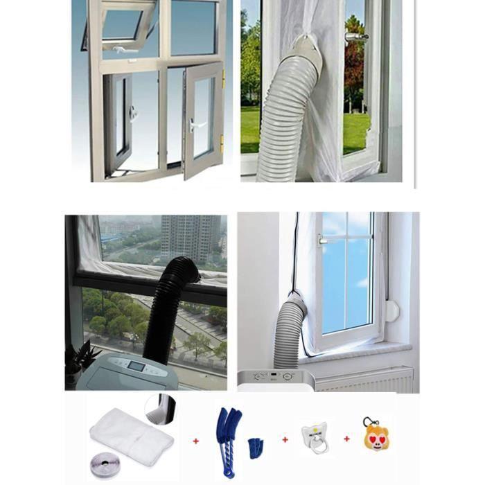 MKISHINE® 4M Joint de Fenêtre pour La Climatisation Mobile et Sèche-Linge, Adapté à L'unité de Conditionnement d'air Portable