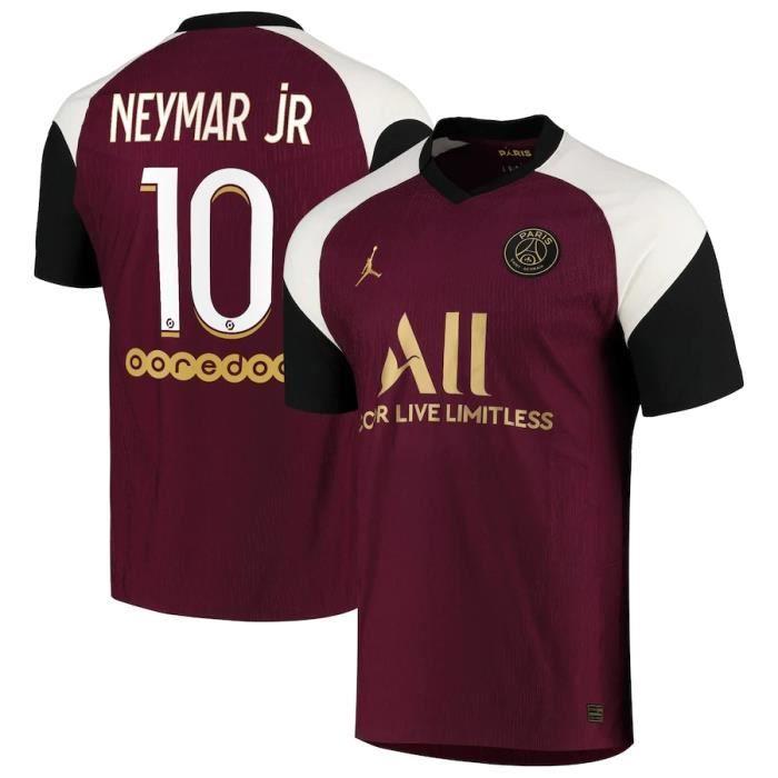 Nouveau Maillot de Foot PSG Jordan Third Stadium 10 Neymar Jr  2020 2021 Pas Cher pour Homme