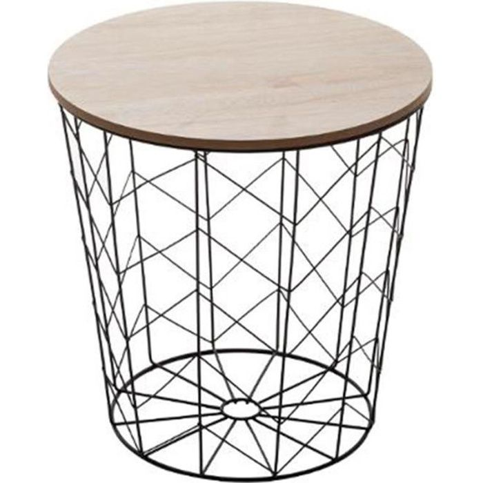 Table d'Appoint Design -Kumi Pop- 38cm Noir
