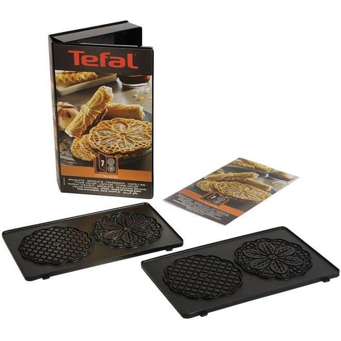 TEFAL Lot de 2 Plaques Bricelets - Snack Collection - XA800712