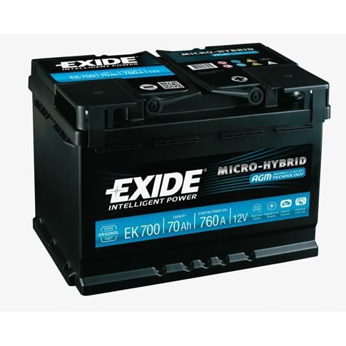 Batterie de démarrage EXIDE EK700