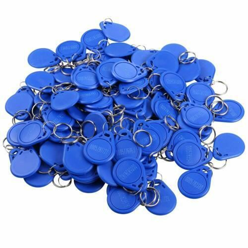 UHPPOTE 100 pièces 125 KHz RFID EM4100 contrôle d'accès d'entrée de porte étiquettes d'identification de proximité porte-clés jetons