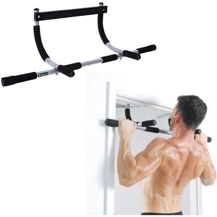 Barre de Traction de Porte Multiple Musculation du Corps Barre d'Entrainement HB007