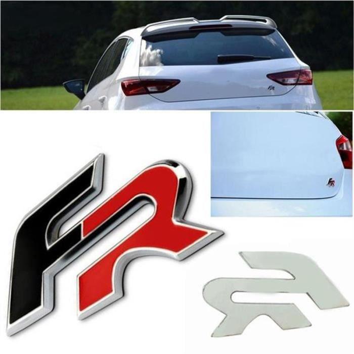 Logo insigne emblème 3D adhésif carrosserie coffre TDI rouge seat ibiza leon
