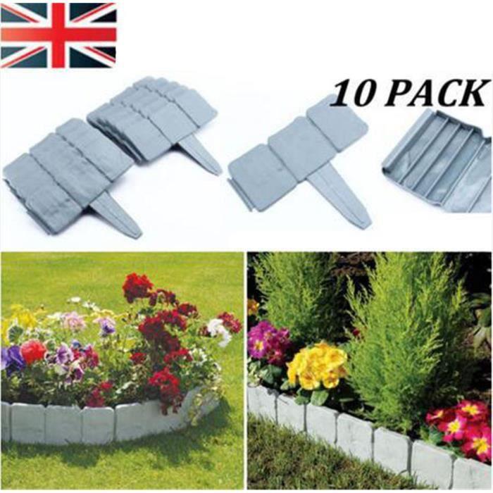 10pcs Bordure En Plastique Palissade Pour Jardin Pelouse
