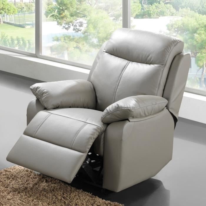 fauteuil relax lectrique cuir vyctoire achat vente fauteuil cdiscount. Black Bedroom Furniture Sets. Home Design Ideas