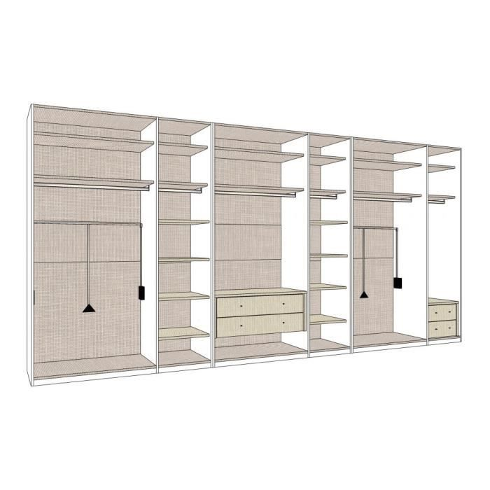 dressing mural solano l 452 x h 220 cm achat vente. Black Bedroom Furniture Sets. Home Design Ideas