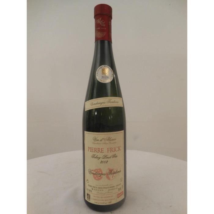 VIN BLANC pinot gris frick vendanges tardives liquoreux 2002