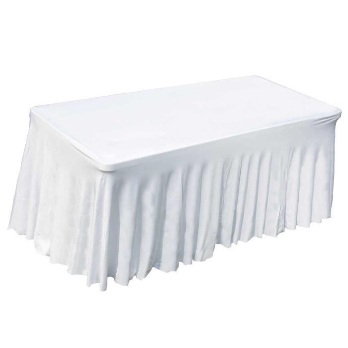 Plaques de Table référence Blanc Couvercle pour 80 cm table haute Housse Stretch Table Topper