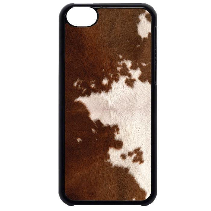 Coque Iphone 5C Pelage poils Peau de vache beige - Cdiscount ...