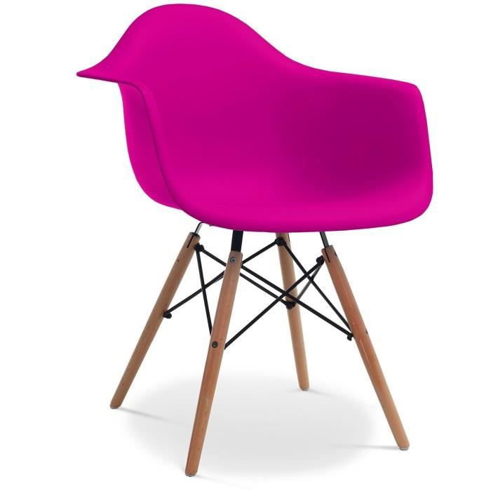 Chaise eames daw style pink rose achat vente chaise for Achat chaise eames