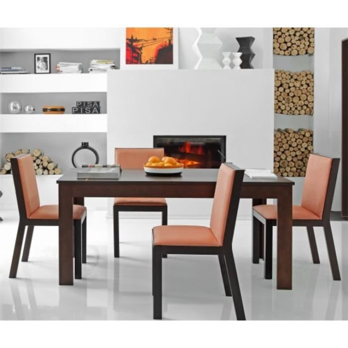 table salle a manger moderne 130 avec rallonges avec 4 chaises achat vente table a manger. Black Bedroom Furniture Sets. Home Design Ideas
