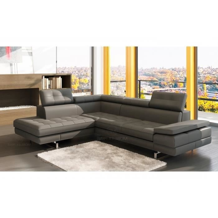 canap d 39 angle en cuir italien 6 places moda achat vente canap sofa divan cdiscount. Black Bedroom Furniture Sets. Home Design Ideas