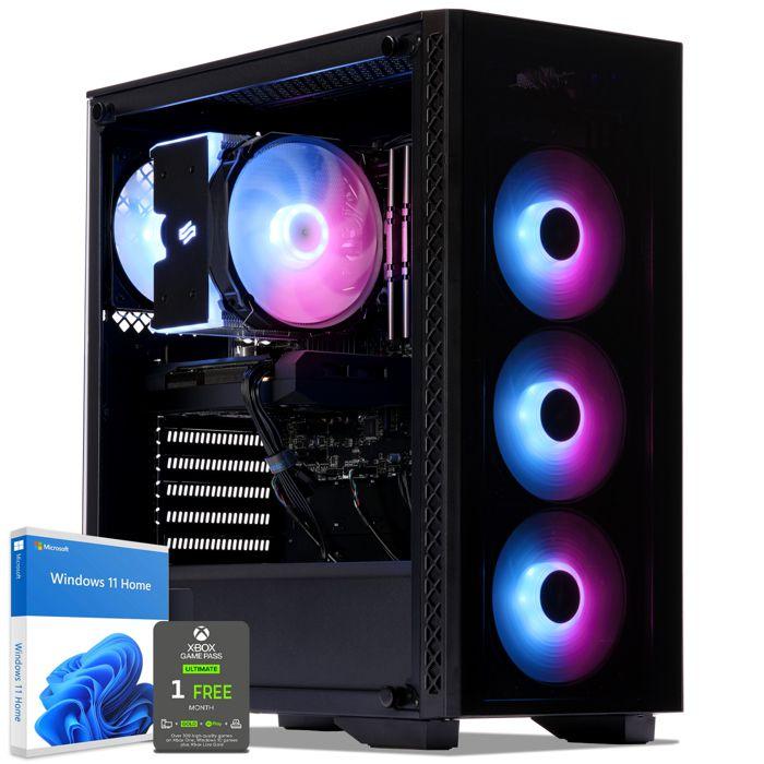 UNITÉ CENTRALE  PC Gamer, AMD Ryzen 7, GTX 1070, 1 To SSD, 3 To HD