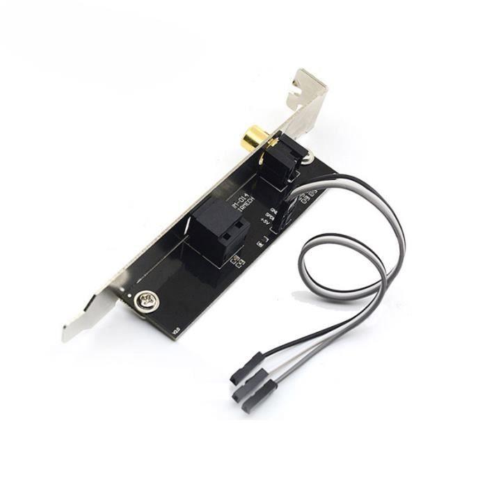 Support de Câble de Plaque de Sortie Optique et RCA SPDIF Sortie Audio  NuméRique pour Carte MèRe ASUS Gigabyte MSI - Prix pas cher - Cdiscount