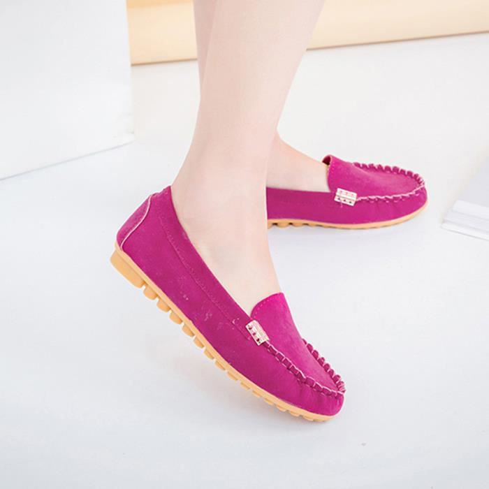 Femmes Flats Mesdames Comfy Ballet Chaussures Soft Slip-On Casual Bateau Chaussures @XMM71214532HOT 1w4Sra