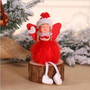 30 cm décoratif debout//Tree Topper Père Noël//Santa Argent//Blanc