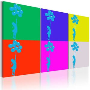 TABLEAU - TOILE Tableau  |  Couleurs d'enfance | 60x30 |  Art urba