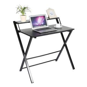 BUREAU  Bureau d'Ordinateur Pliable Table Meuble Pour PC B