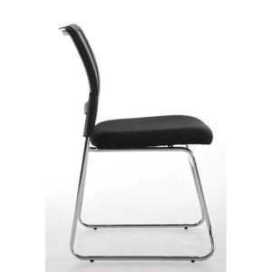 CHAISE DE BUREAU Chaise pour visiteur fauteuil bureau gris pieds ch