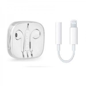 CASQUE - ÉCOUTEURS Ecouteurs apple earpods avec adaptateur connecteur
