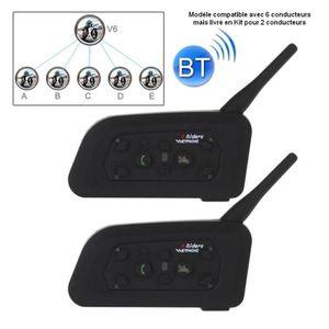 lecteur MP3 N/° 0 QLING Casque de moto Bluetooth Interphone /étanche sans fil avec radio FM noir Free Size