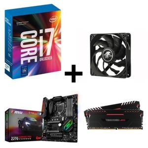 PACK COMPOSANT Kit Evo Core i7 7700k MSI Z270 GAMING PRO CARBON 1