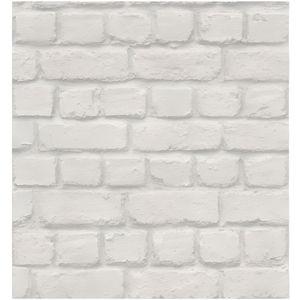 623004 Nouvelle blanche art /& essai mur de brique texturé motif papier peint mural de luxe