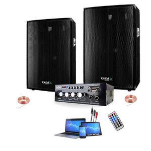 PACK SONO PACK SONO ENCEINTES 600 + AMPLI PA DJ SONO LED LIG