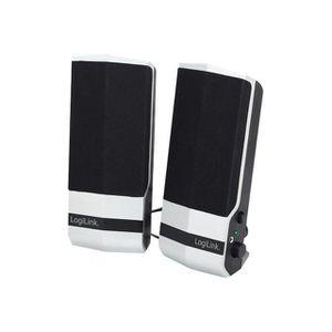 ENCEINTES ORDINATEUR Haut-parleurs Active USB 2.0 LogiLink (SP0026) - A