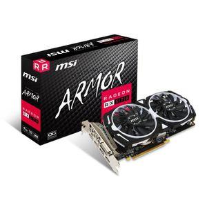 CARTE GRAPHIQUE INTERNE MSI AMD RX 570 Armour 4 G OC 4 Go de mémoire 256 B