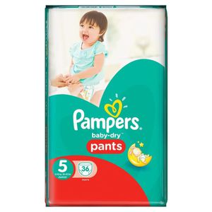 COUCHE PAMPERS Babydry pants geant - T5 - x36