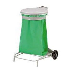 POUBELLE - CORBEILLE Support de sacs poubelles roulant 50 litres Ros…