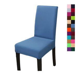 Housse dossier haut de chaise bleu couleur RS34Lqcj5A