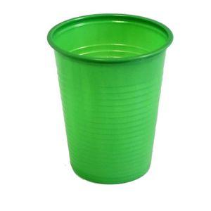 VERRE JETABLE Paquet de 50 gobelets plastique 20cl vert fonce