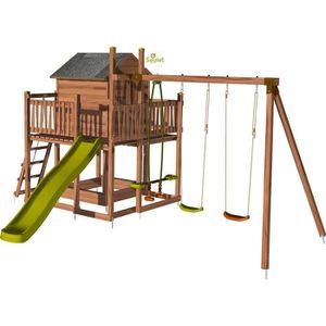 BALANÇOIRE - PORTIQUE SOULET - Aire de jeux pour enfant maisonnette avec