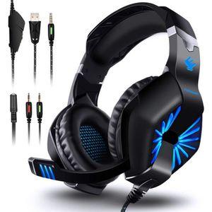 CASQUE AVEC MICROPHONE Casque Gaming, Gamer Headphone Headset Anti-Bruit